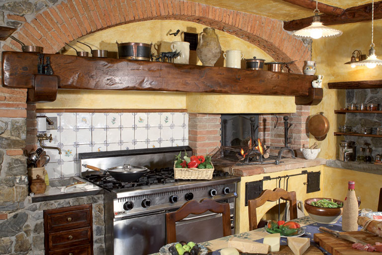 Cucine in muratura in stile rustico Toscano - Bianconi Group
